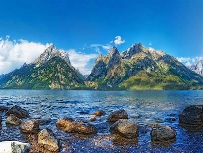 Peaceful River Wallpapers Water Wyoming Lake Jackson