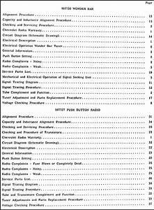 1958 Chevy Radio  U0026 Autronic Eye Manual Original