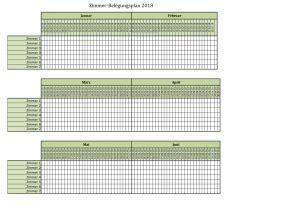 zimmerbelegungsplan zum ausdrucken kalender