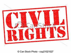 Clip Art of CIVIL RIGHTS red Rubber Stamp over a white ...