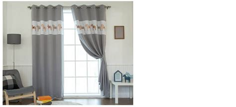 Pony Blackout Curtains Bedrooms Eyelet Grommet Kids Curtains 102