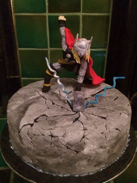 so i made a cake and thor went and smashed it