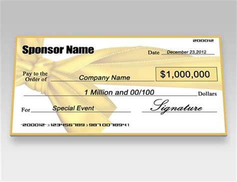 oversized check template donation checks charity checks signazon