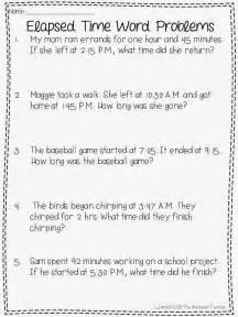 25 best ideas about elapsed time on math 4
