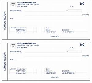 8 payment receipt templates word excel pdf formats With receipts for payments template
