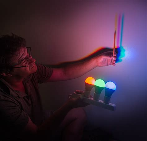 different color lights colored shadows light color science activity