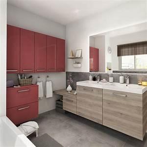 meuble de salle de bains plus de 120 brun marron neo With meubles salle de bain leroy merlin avis