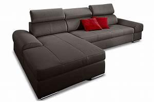 Ecksofa Grau Leder : leder ecksofa broadway mit schlaffunktion grau sofas zum halben preis ~ Indierocktalk.com Haus und Dekorationen