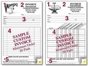 wwwhoofprintscom With custom invoice pads