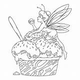 Fairy Outline Ice Coloring Premium Negro Pixie Corte Pelo Lies Balls Cream Vector Refreshing Seasonal Fairytale Sweets Cold Traditional Concept sketch template