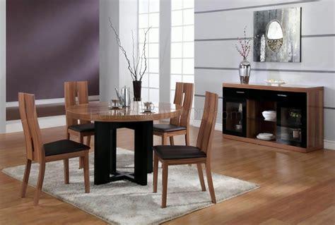 matt walnut finish modern  dining table woptional items