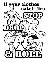 Fire Coloring Safety Month Colouring Safe Template sketch template
