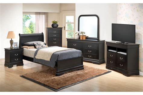 bedroom sets dawson black twin size platform
