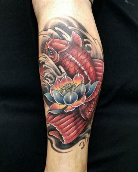 stunning lotus flower tattoo design