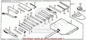 Honda Gl1200 Goldwing 1984  E  Usa California Tools 84