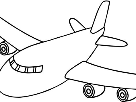 airplane drawing simple  getdrawingscom