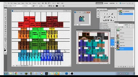 minecraft skin template map youtube