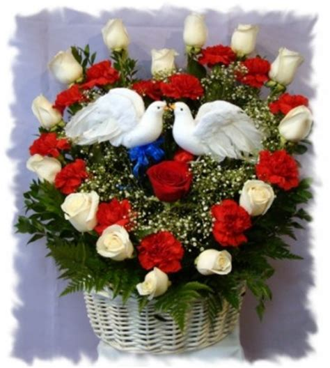 doves of roses and carnations s day in hawaiian