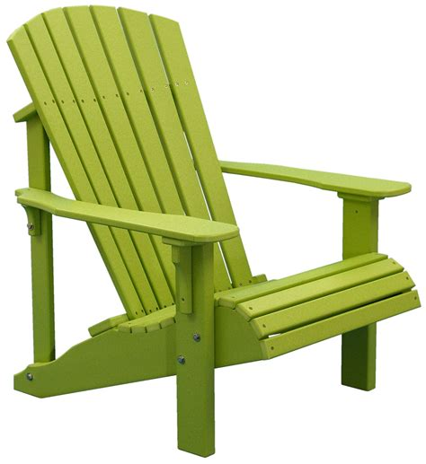 luxcraft poly deluxe adirondack chair swingsets luxcraft