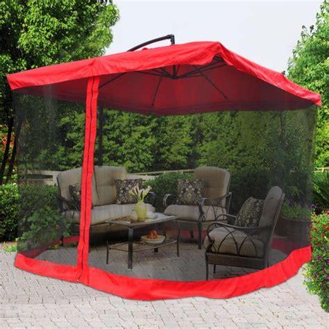 yescom 9 red outdoor patio offset umbrella aluminum tilt