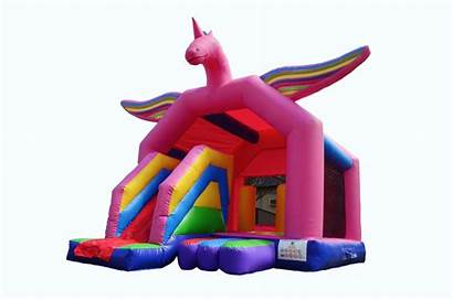 Unicorn Jumping Castle Slide Castles Hire Wonderland