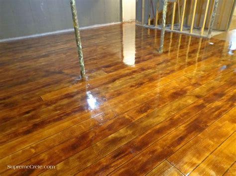 Wood Concrete Basement Floor After Wood Concrete