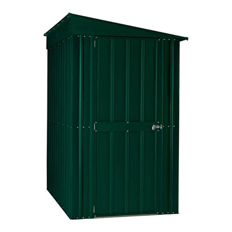lean  heritage green metal shed