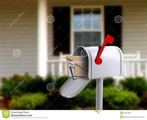 mail box  front   house royalty  stock