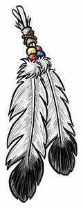 Drawn eagle indian - Pencil and in color drawn eagle indian