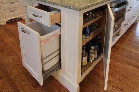 kitchen island trash kitchen island hidden garbage can transitional kitchen canterbury design