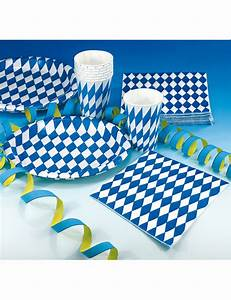 20 Tovaglioli Bavaresi Decorativi Bianco E Blu  Addobbi E Vestiti Di Carnevale Online