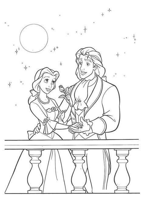 printable beauty   beast coloring pages beauty