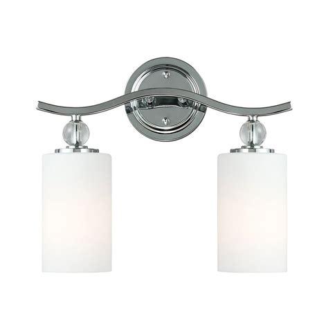 chrome bathroom vanity light shop sea gull lighting 2 light englehorn chrome bathroom
