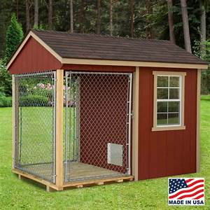 ez fit 6x10 wood dog kennel kit w windows With outdoor dog kennels for sale near me