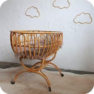 Lit Bebe Ancien : e326 berceau rotin ancien bebe nantes f atelier du petit parc ~ Teatrodelosmanantiales.com Idées de Décoration