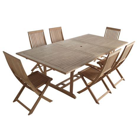 salon de jardin castorama ensemble table 6 chaises en