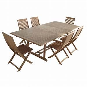 Salon De Jardin En Teck Pas Cher : salon de jardin castorama ensemble table 6 chaises en ~ Dailycaller-alerts.com Idées de Décoration