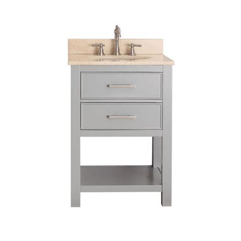 avanity brooks 24 in vanity combo in chilled gray finish