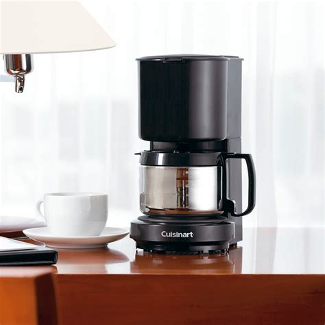 To the technivorm moccamaster 79112 kbt coffee brewer features a stainless steel design that will complement that modern clean look that kitchens. Conair Cuisinart WCM08B 4-Cup Coffee Maker Black with Stainless Steel Carafe