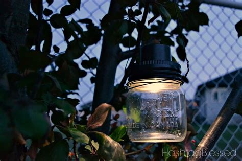 hanging jar solar lights crafts gardening how to jpg
