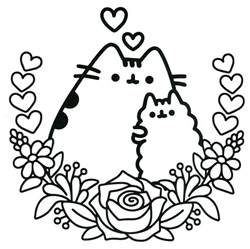 Pusheen The Cat Coloring Coloring Pages