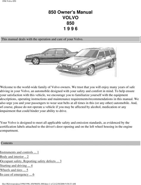 volvo xc  owners manual