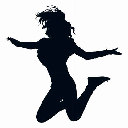 Silhouette Jump Silueta Salto Mujer Freestyle Silhueta