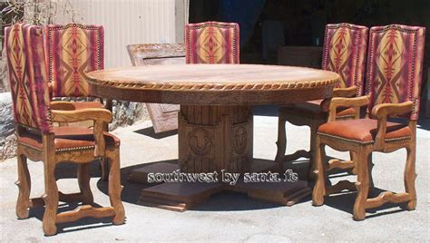 southwestern hide dining tables