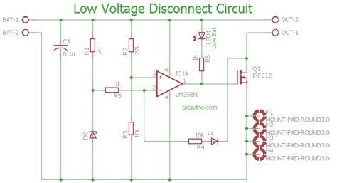 Low Voltage Disconnect Circuit Tataylino