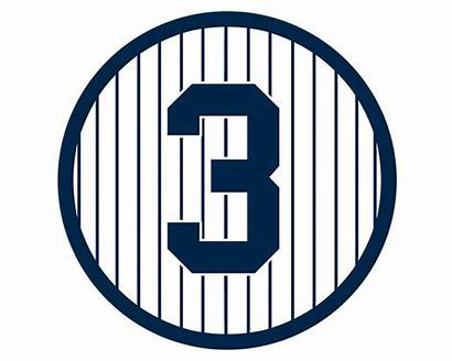 Ruth Babe Yankees Number Retired York Sticker