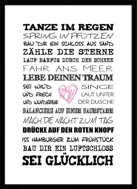 artissimo spruch bild gerahmt 51x71cm poster kunstdruck