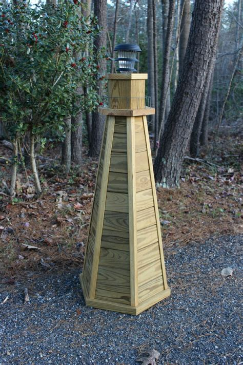 The plan for the lighthouse with the sailor and scrollsaw pattern is intended for a wood carving project. DIY Lighthouse Plans. How to Build a 4 ft. Wooden Lawn Lighthouse.