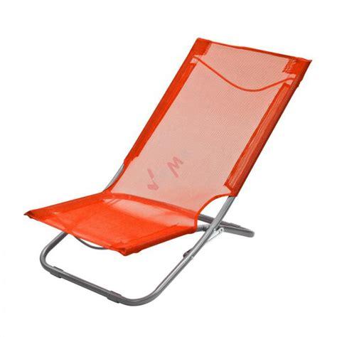 chaise plage pliante chaise pliante plage piscine de couleur orange plein