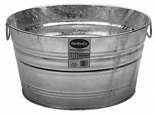 Norwesco, Round, Galvanized, Wash, Tub